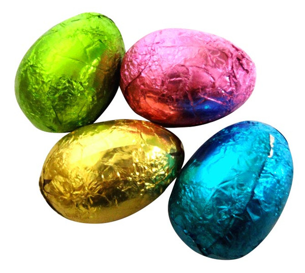 Chocolatier -  Foiled Hollow Milk Eggs Assorted Foil and more Confectionery at The Professors Online Lolly Shop. (Image Number :14569)
