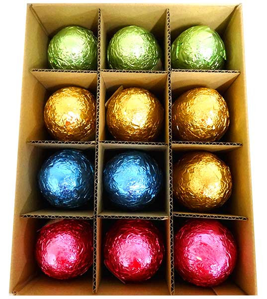 Chocolatier -   Foiled Hollow Milk Eggs Assorted Foil and more Confectionery at The Professors Online Lolly Shop. (Image Number :13934)