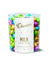 Chocolatier - Milk Chocolate Mini Eggs Assorted Foil (1kg Tub - Approx 135 Eggs)