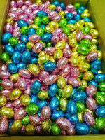 Chocolatier - Milk Chocolate Mini Eggs Assorted Foil - Bulk  (6kg Box - Approx 800 eggs)
