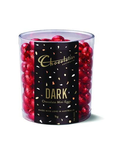 Chocolatier - Dark Chcolate Mini Eggs Red Foil and more Confectionery at The Professors Online Lolly Shop. (Image Number :12398)