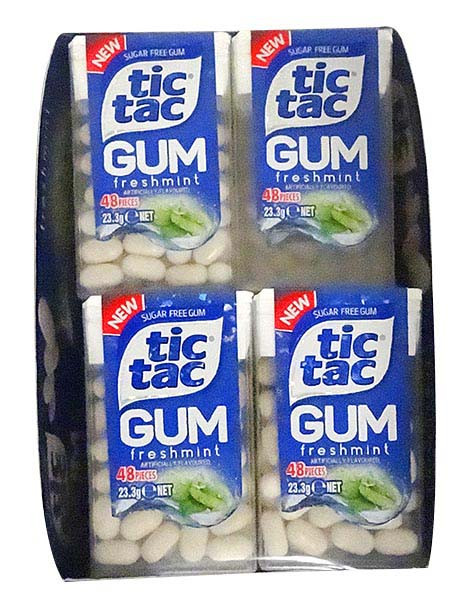 Tic Tac Gum - Freshmint Gum, by Ferrero,  and more Confectionery at The Professors Online Lolly Shop. (Image Number :13009)