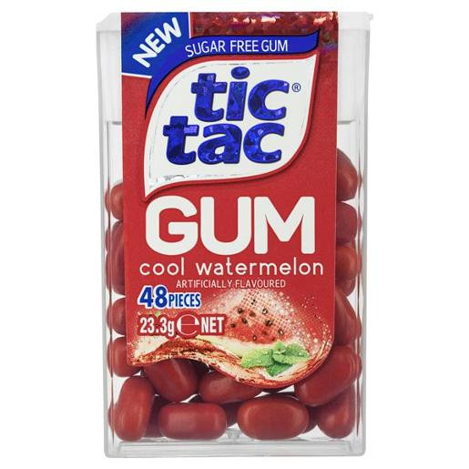 Tic Tac Gum - Watermelon Gum, by Ferrero,  and more Confectionery at The Professors Online Lolly Shop. (Image Number :12405)