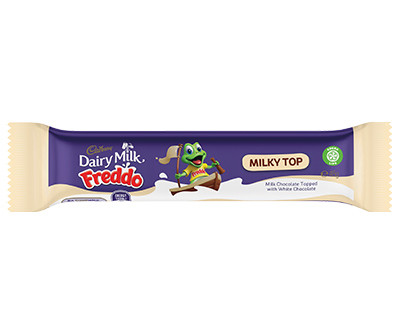 Freddo Bars Milky Top, by Cadbury,  and more Confectionery at The Professors Online Lolly Shop. (Image Number :12412)
