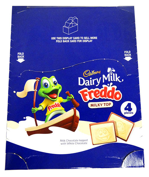 Freddo Bars Milky Top, by Cadbury,  and more Confectionery at The Professors Online Lolly Shop. (Image Number :13056)
