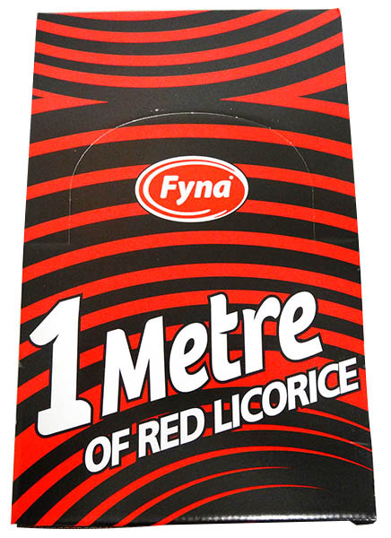 One Metre  Red Licorice, by Fyna Foods,  and more Confectionery at The Professors Online Lolly Shop. (Image Number :13073)