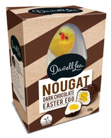 Darrell Lea Nougat Egg - Dark Chocolate with Fluffy Chick (150g)