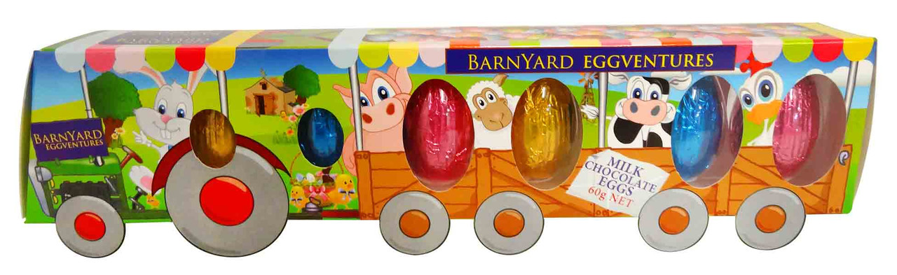 Barnyard Eggventures Tractor and more Confectionery at The Professors Online Lolly Shop. (Image Number :12746)