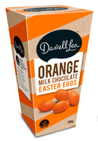 Darrell Lea  BBS Orange Milk Chocolate Easter Eggs (180g Box)