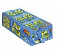Sour Rip Rolls - Blue Raspberry (24 x 40g in a display box)