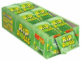 Sour Rip Rolls - Green Apple and more Confectionery at The Professors Online Lolly Shop. (Image Number :12509)