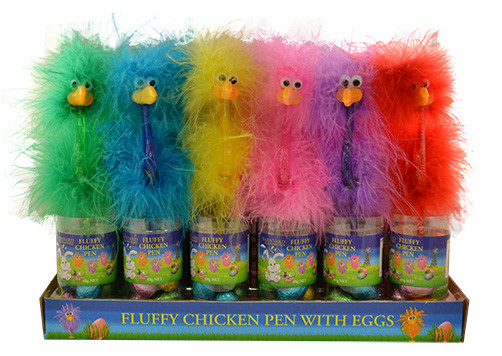 Fluffy Chicken Pen with easter eggs, by Lolliland,  and more Confectionery at The Professors Online Lolly Shop. (Image Number :12520)