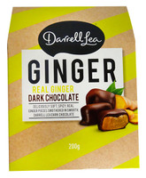 Darrell Lea - Dark Chocolate Ginger (200g Boxes)