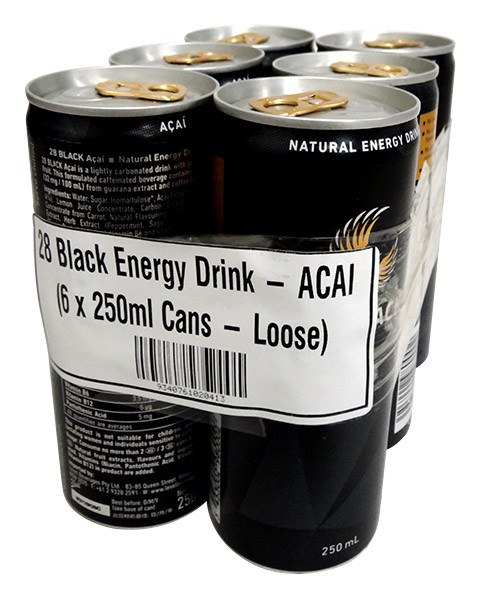 28 Black Energy Drink - ACAI, by 28 Black,  and more Beverages at The Professors Online Lolly Shop. (Image Number :12730)