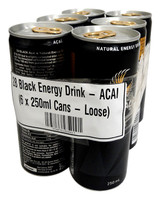 28 Black Energy Drink - ACAI (6 x 250ml Cans - Loose)