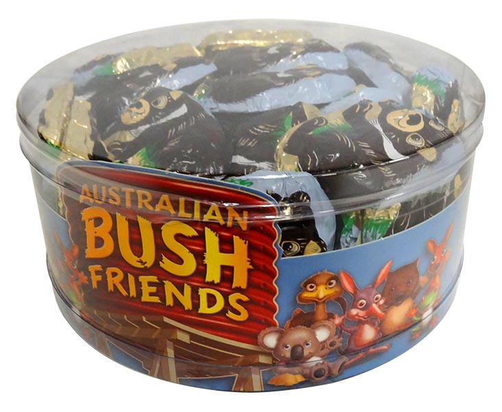 Australian Bush Friends Milk Chocolate - Tassie Devils, by Fyna Foods,  and more Confectionery at The Professors Online Lolly Shop. (Image Number :12743)
