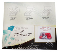 Chocolate Gems  - Blossom Pack - Mother's Day Medallions, Hearts & StarDrops (14x120g packs)