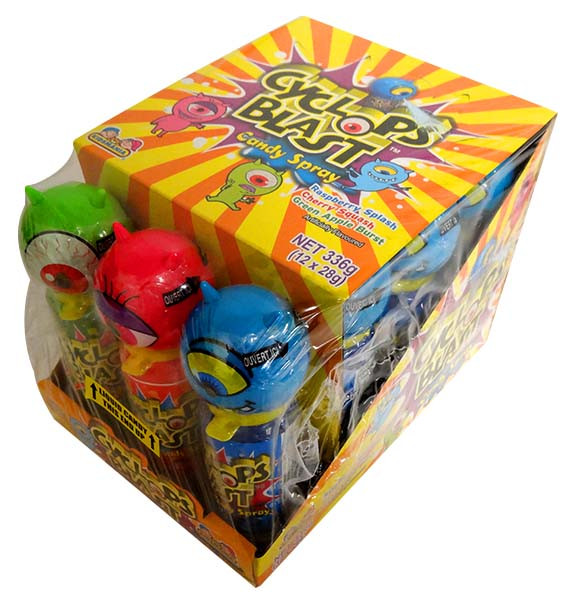 Cyclops Blast Candy Spray, by Kidsmania,  and more Confectionery at The Professors Online Lolly Shop. (Image Number :12772)