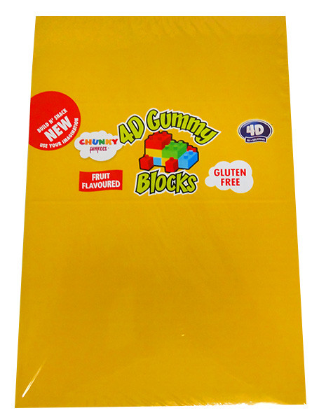 Chunky Funkeez 4D Gummy Blocks and more Confectionery at The Professors Online Lolly Shop. (Image Number :13036)