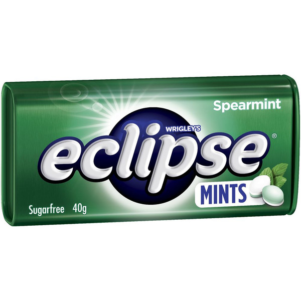 Eclipse Mints - Spearmint - Half Pack, by Wrigley,  and more Confectionery at The Professors Online Lolly Shop. (Image Number :14956)