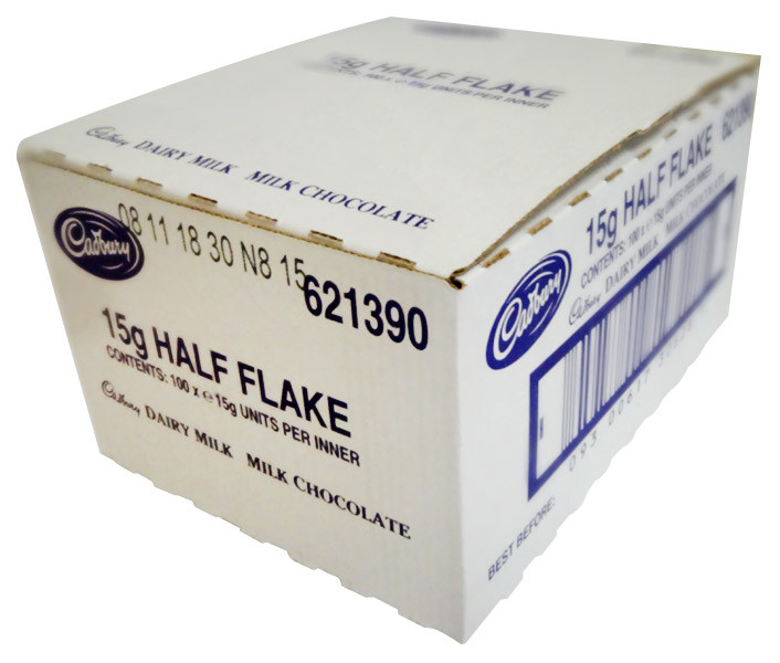 Cadbury Flake - Unwrapped Half and more Confectionery at The Professors Online Lolly Shop. (Image Number :11739)