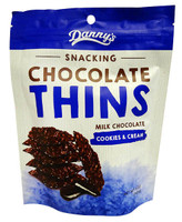 Danny s Snacking Chocolate Thins - Cookies & Cream (12 x 140g bags)