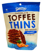 Danny s Toffee Thins - Milk chocolate Peanut & Sea Salt (12 x 140g bags)