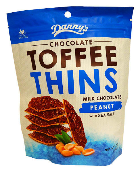 Danny s Toffee Thins - Milk chocolate Peanut & Sea Salt and more Confectionery at The Professors Online Lolly Shop. (Image Number :13135)