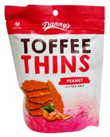 Danny s Toffee Thins - Peanut & Sea Salt (12 x 140g bags)