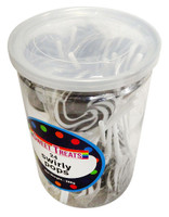 Sweet Treats Swirly Pops - Black (24 x 12g in a tub)