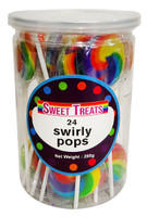 Sweet Treats Swirly Pops - Rainbow, by Brisbane Bulk Supplies,  and more Confectionery at The Professors Online Lolly Shop. (Image Number :13275)