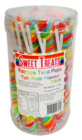 Sweet Treats Twist Pops - Rainbow, by Brisbane Bulk Supplies,  and more Confectionery at The Professors Online Lolly Shop. (Image Number :13279)