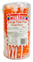 Sweet Treats Twist Pops - Orange, by Brisbane Bulk Supplies,  and more Confectionery at The Professors Online Lolly Shop. (Image Number :12867)