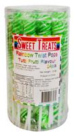 Sweet Treats Twist Pops - Green (24 x 13g in a tub)