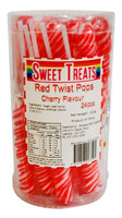 Sweet Treats Twist Pops - Red, by Brisbane Bulk Supplies,  and more Confectionery at The Professors Online Lolly Shop. (Image Number :12871)