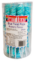 Sweet Treats Twist Pops - Blue, by Brisbane Bulk Supplies,  and more Confectionery at The Professors Online Lolly Shop. (Image Number :12865)