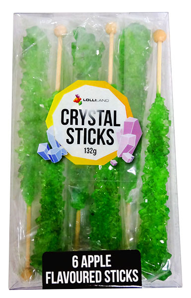Crystal sticks - Green, by Lolliland,  and more Confectionery at The Professors Online Lolly Shop. (Image Number :12850)