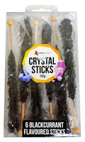 Crystal sticks - Black, by Lolliland,  and more Confectionery at The Professors Online Lolly Shop. (Image Number :12848)