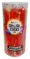 Crystal sticks - Red, by Lolliland,  and more Confectionery at The Professors Online Lolly Shop. (Image Number :13206)