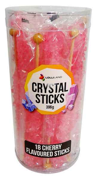 Crystal sticks - Hot Pink, by Lolliland,  and more Confectionery at The Professors Online Lolly Shop. (Image Number :13205)