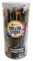 Crystal sticks - Black and more Confectionery at The Professors Online Lolly Shop. (Image Number :12849)