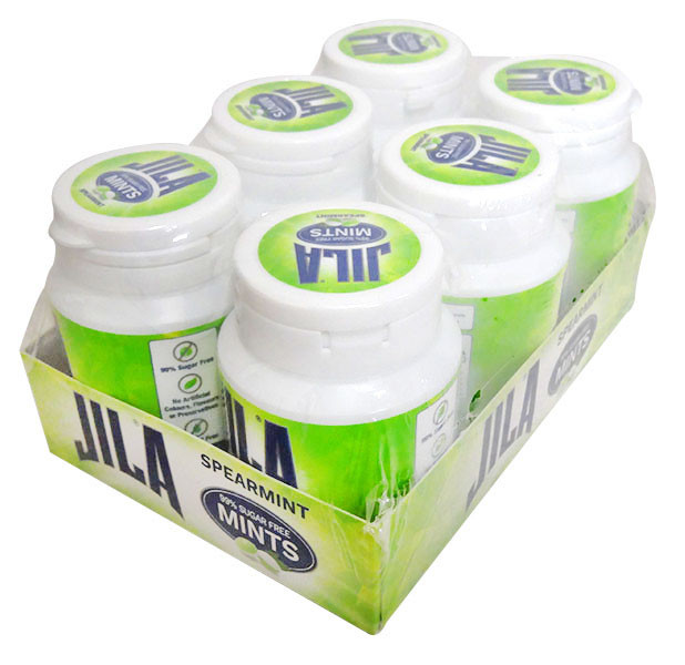 Jila  99% Sugar Free Mints - Spearmint, by Jila,  and more Confectionery at The Professors Online Lolly Shop. (Image Number :13223)