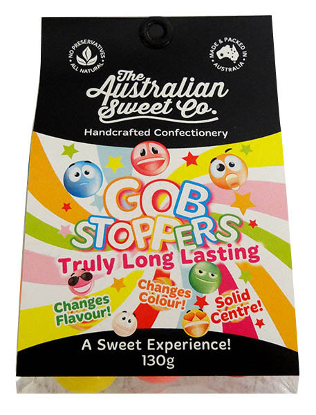Gobstoppers, by The Australian Sweet Company,  and more Confectionery at The Professors Online Lolly Shop. (Image Number :13615)