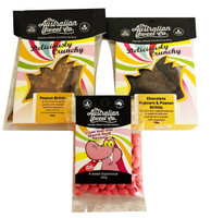Promo Pack - 2 x Gourmet Brittles, by The Australian Sweet Company,  and more Confectionery at The Professors Online Lolly Shop. (Image Number :12702)