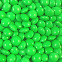 Candy Showcase Choc Buttons - Green (1kg bag)