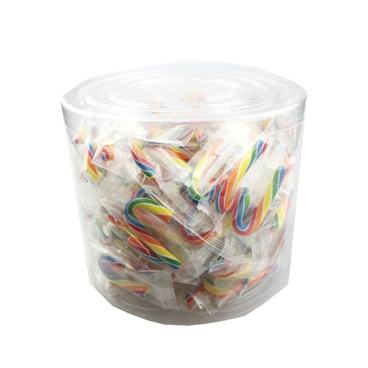 Mini Rainbow Candy Canes - Fruit Flavour, by Lolliland,  and more Confectionery at The Professors Online Lolly Shop. (Image Number :13333)