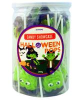 Candy Showcase Witch & Frankenstein Pops (24 x 12g pops)