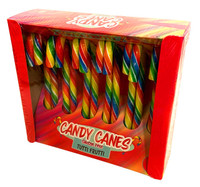 Lolliland Rainbow Candy Cane - Tutti Frutti Flavour, by Lolliland,  and more Confectionery at The Professors Online Lolly Shop. (Image Number :13517)