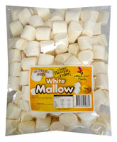Lolliland Marshmallow Cylinders - White (1kg Bag)