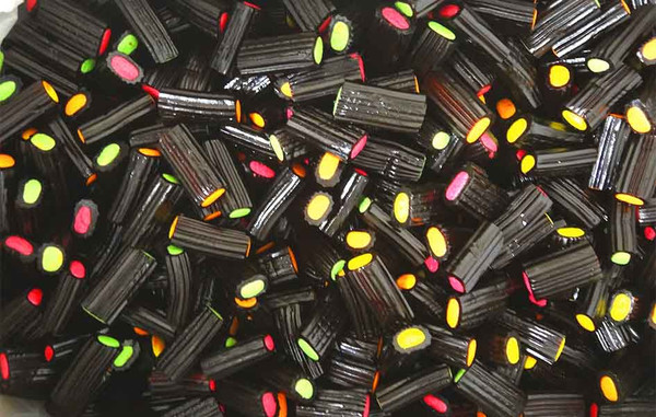 Fyna Licorice Fruit Bites, by Fyna Foods,  and more Confectionery at The Professors Online Lolly Shop. (Image Number :13217)